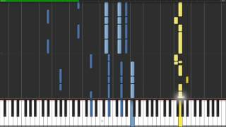Oriental Impression - Entre-Deux-Mers [Piano & Descant Recorder Tutorial] (Synthesia)