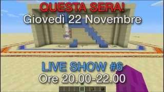 LIVE SHOW #6 OGGI ore 20.00 su TWITCH.TV (22-11-2012)