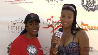 Celebrity Trackmeet Red Carpet with Actress Chandra Currelley