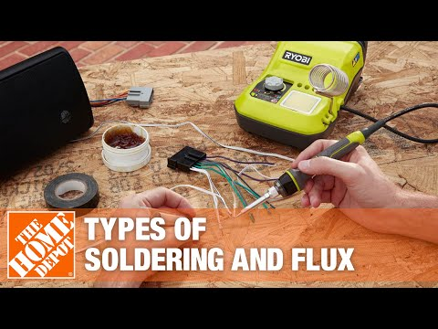 A man soldering a piece of pipe.