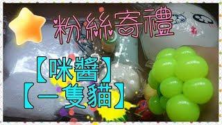 粉絲寄禮 【cindy 咪醬】【一隻貓 meow】彈力球 紓壓玩具 squishy 可愛扭蛋 / gift from fans /ファン様からのプレゼント