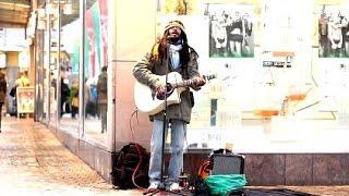 "Amazing Reggae Street Singer/Musician - ""Red Red Wine"" (UB40 Cover)"