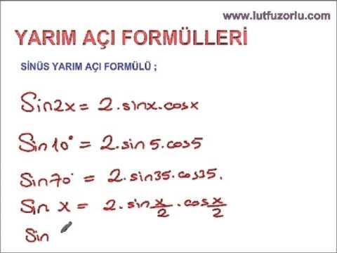 10.sinif matematik trigonometri yarim açi formülleri testleri