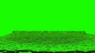 water flooding in green screen free stock footage