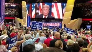 What it was like on the convention floor as Trump Spoke