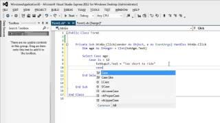 Select Case - VB.Net - Visual Basic Tutorial width=