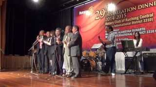 Rotary Theme 2014-2015 by Rotarians accompanied by The Revivals at the function