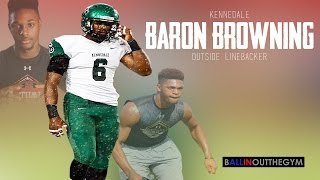 Baron Browning Just Creates HAVOC : (2015 Junior Football Highlights)