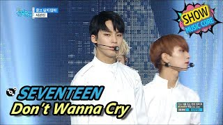 [HOT] SEVENTEEN - Don't Wanna Cry, 세븐틴 - 울고 싶지 않아 Show Music core 20170610