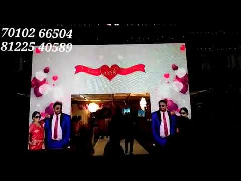 Doctor Wedding Reception Event Decoration | LED Arch Entry Neyveli NLC India +91 81225 40589 (WA)