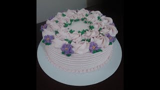 Bolo Floral Decorado Com Bico 1M  #bolodecorado  #bolo  #bologostoso