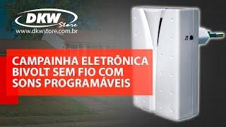 CAMPAINHA ELETRÔNICA BIVOLT SEM FIO COM SONS PROGRAMÁVEIS - DNI 6387