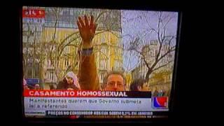 Manifestação contra casamento gay