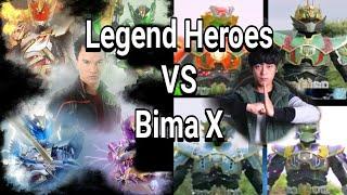 Legend Heroes Guan Yu VS Satria Garuda Bima X width=