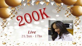? Live - Especial 200 mil inscritos - Receita Cupcake de Baunilha c/ Paçoca