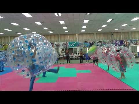 新竹縣新豐國中適應體育-泡泡足球學生對抗賽 - YouTube