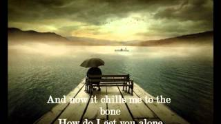 Celine Dion-Alone with lyrics