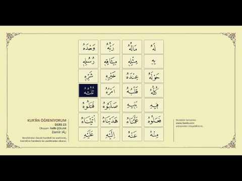 Kuran Öğreniyorum 23 - Zamir (Fatih Çollak)