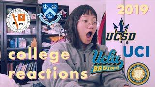 2019 college decisions reactions - i got into my dream school! (UCLA, columbia, berkeley, + more)