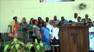 Oneil Ricardo  Singing Hillsong's Cornerstone with the Hillview Baptist Choir Jamaica