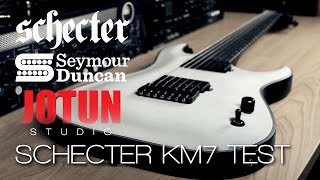 Schecter KM7 & Seymour Duncan Nazgul and Sentient Test (by Jotun Studio)