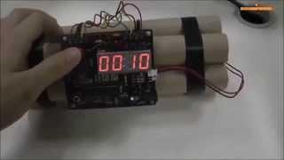 Relógio Digital Bomba Dinamite  Ligação Usb