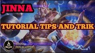 Jinna AOV arena of valor tutorial tips and trik untuk pemula