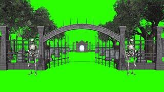 Cemitério #1 - Graveyard #1 [Fundo Verde - Green Screen]