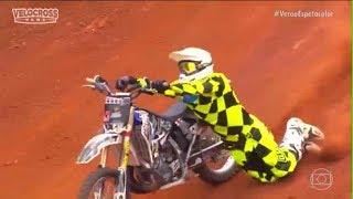 Acidente Feio do piloto de motocross Claudinho  durante o duelo de motos motocross estilo livre 2018