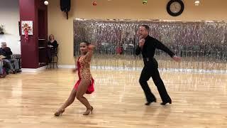 Nadia Kastenmeier Donald Johnson ballroom center winter showcase 2018 cha cha dance no roots