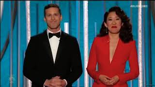 Andy Samberg & Sandra Oh's opening monologue was the perfect start to the Golden Globes.