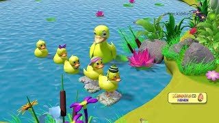 Five little ducks hindi rhyme | Best hindi rhymes| Baby songs | Kindergarten | Kiddiestv Hindi