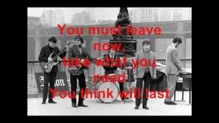 Them - It's All Over Now, Baby Blue (Lyrics)