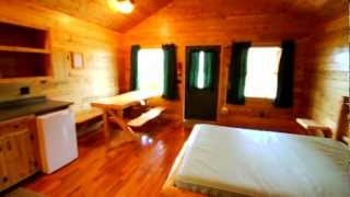 Large Cabins with Bathrooms at Mackinaw Mill Creek Camping - YouTube