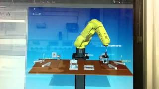 Fanuc robot in 3d create software working on task