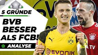 5 Gründe, wieso BVB besser als FC Bayern ist! |Analyse