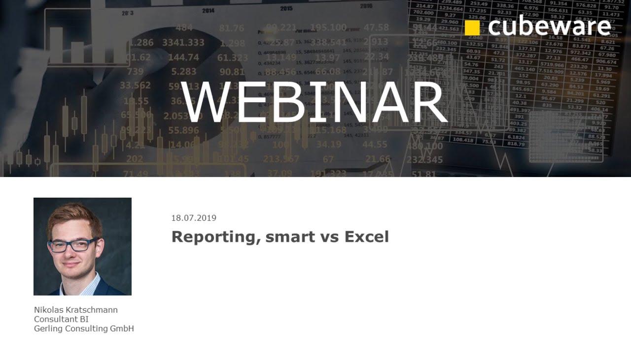 Reporting, smart vs Excel