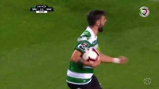 Goal | Golo Bruno Fernandes: Sporting (2)-2 Nacional (Liga 18/19 #13)