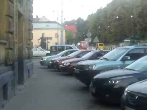 Lviv Ukraine a walk around the city old quarter August 2011