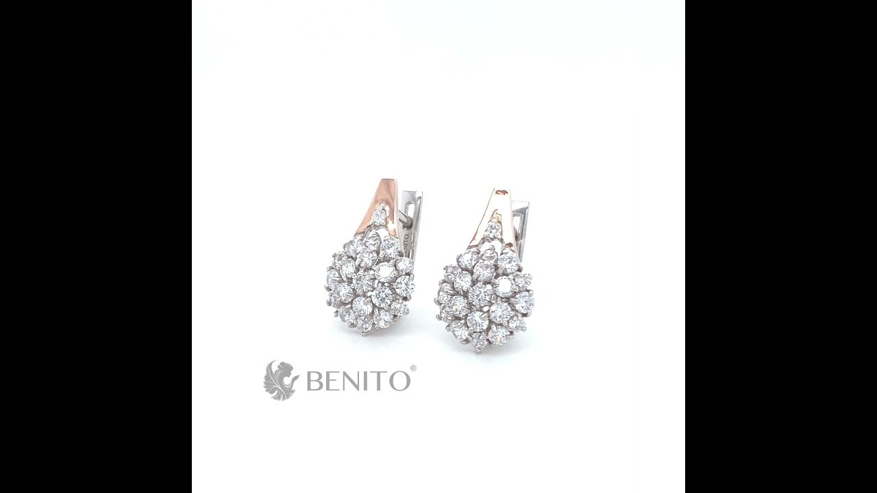 Fabrizia Earrings White Zircon Stones