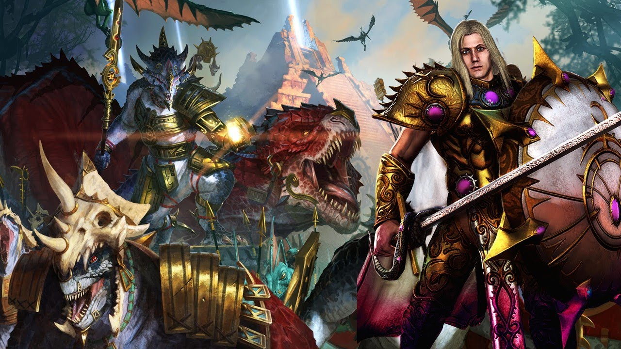 milkandcookiesTW - EVERYBODY WALK THE DINOSAUR - Lizardmen Kite vs. Chaos - Total War Warhammer 2