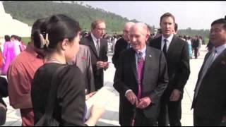 American Korean War Vet Visits NKorean Memorial