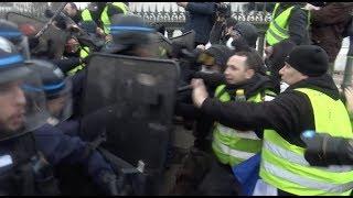 Gilets jaunes Acte 11: Débordements en fin de manifestation (26 janvier 2019, Paris)