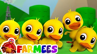 Five Little Ducks | Childrens Song For Kids | Nursery Rhyme For Baby by Farmees width=