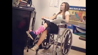 Cast girl wheelchairs and crutches ong leg cast girl sexy cast