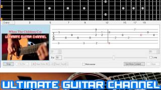[Guitar Solo Tab] When The Children Cry (White Lion)