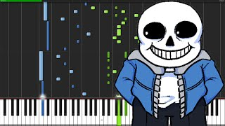 Song That Might Play When You Fight Sans - Undertale [Piano Tutorial] (Synthesia)