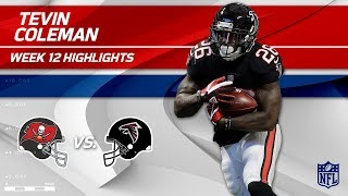 Tevin Coleman's 2 TD Game vs. Tampa Bay! | Buccaneers vs. Falcons | NFL Wk 12 Highlights