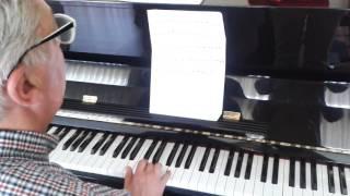 """Antonio toca """"A saia da Carolina"""" (ensayo)"""