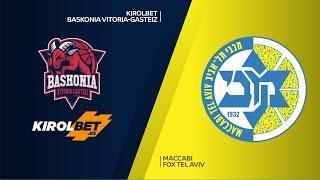 KIROLBET Baskonia Vitoria-Gasteiz - Maccabi FOX Tel Aviv Highlights   EuroLeague RS Round 21